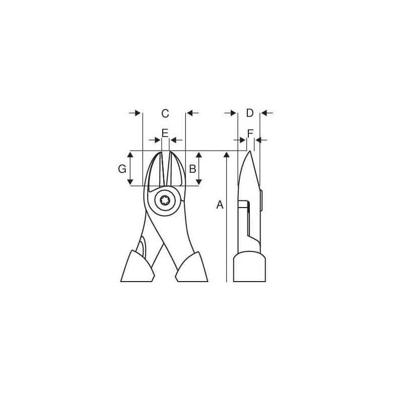 "Alicate Aislado Cortante Dob Filo 1000 V 6"" Bahco 2101S-160"