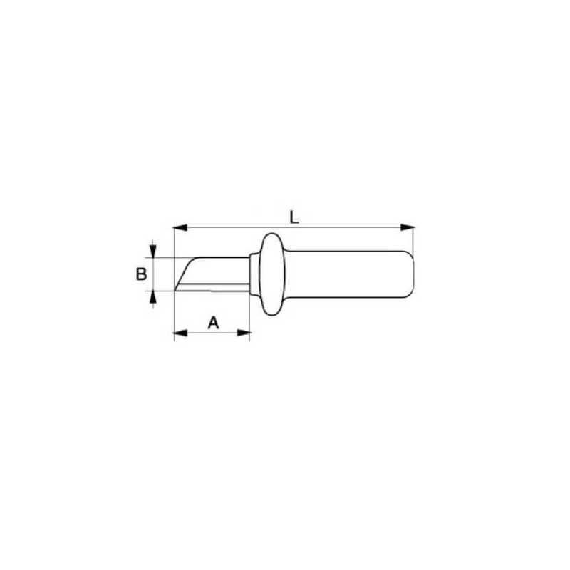 Cuchillo Pelacables Electricista Recto Aislado 1000 VLT Bahco 2820VP