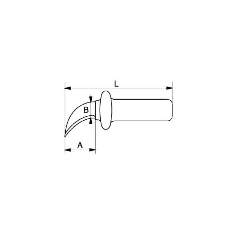 Cuchillo Pelacables Electricista Curvo Aislado 1000 VLT Bahco 2820VPC