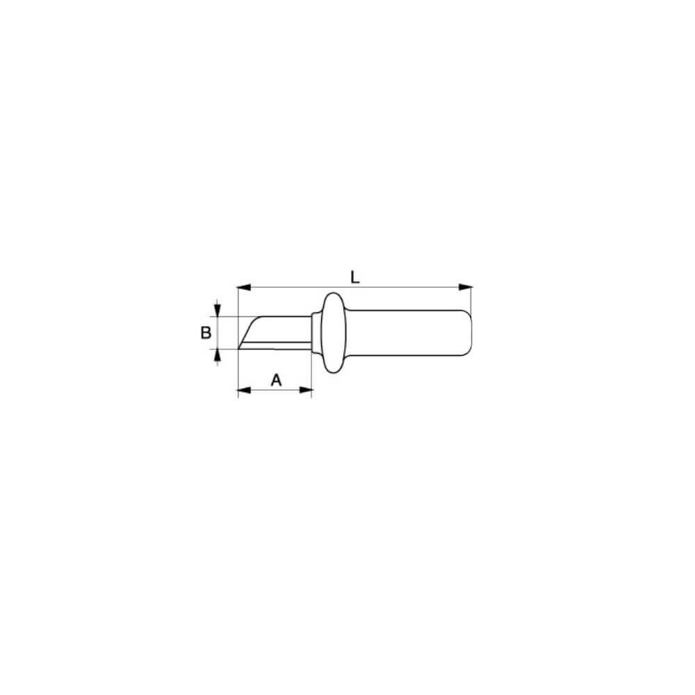"""Cuchillo Pelacables con Capuchón Protector de Plástico 7"""" Bahco 2820VDE"""