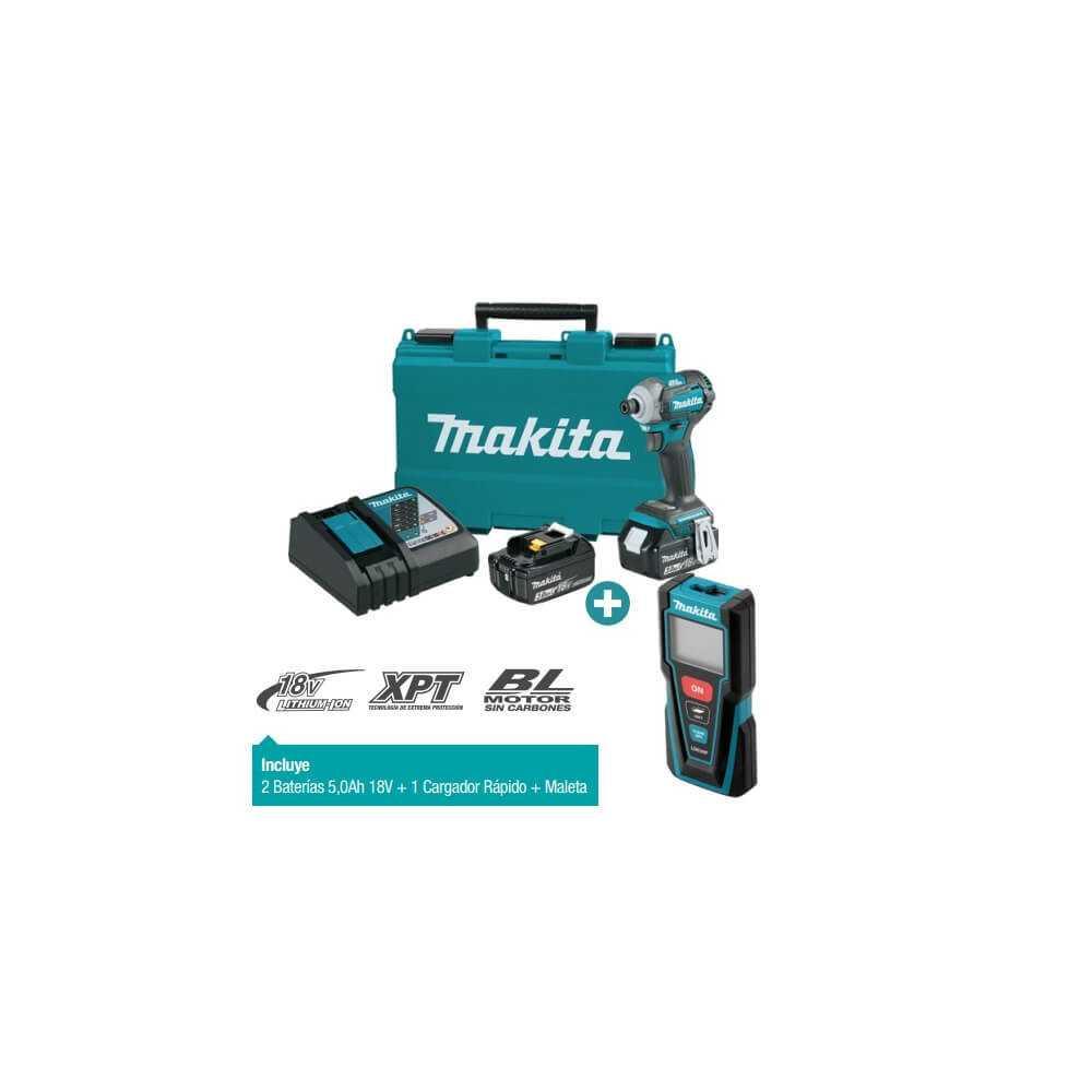 Kit Atornillador de Impacto DTD170RFE + Medidor de Distancia Laser LD030P Makita DTD170RFE-1