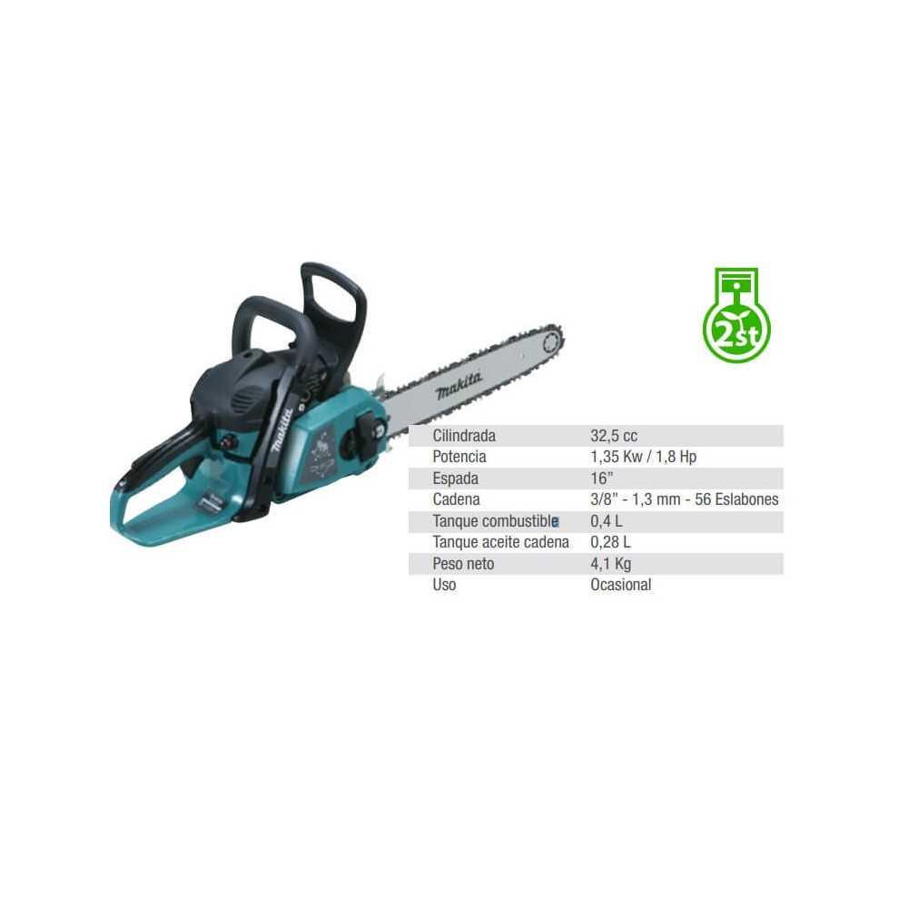 "Motosierra 16"" (400 mm) 1.35 Kw / 1.8 Hp Makita EA3203S40B"
