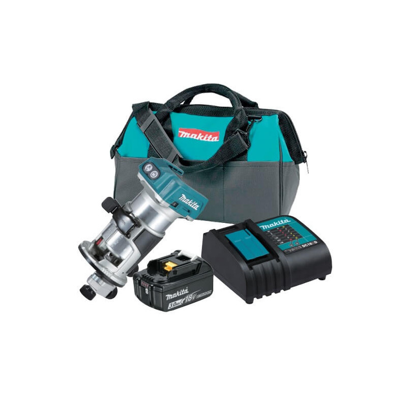 Recortadora Inalámbrica DRT50 + 1 Batería 3.0 Ah 18 V + 1 Cargador Normal + Bolso Makita DRT50SFX8