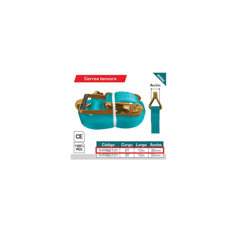 Eslinga de Carga 2T - 10mts. Total Tools THTRS2101