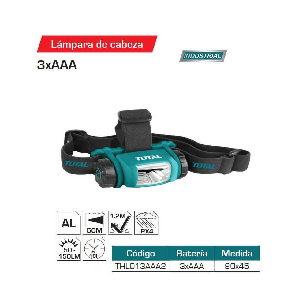Linterna Frontal 3AAA Total Tools THL013AAA2