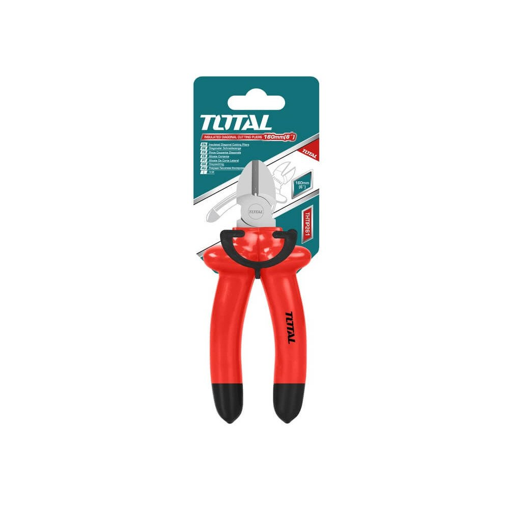 "Alicate Aislado Corte Diagonal 6"" ( 160 mm) Total Tools THTIP261"