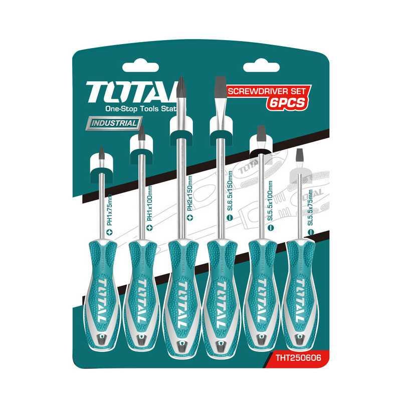 Set Atornilladores 6 pcs Total Tools THT250606