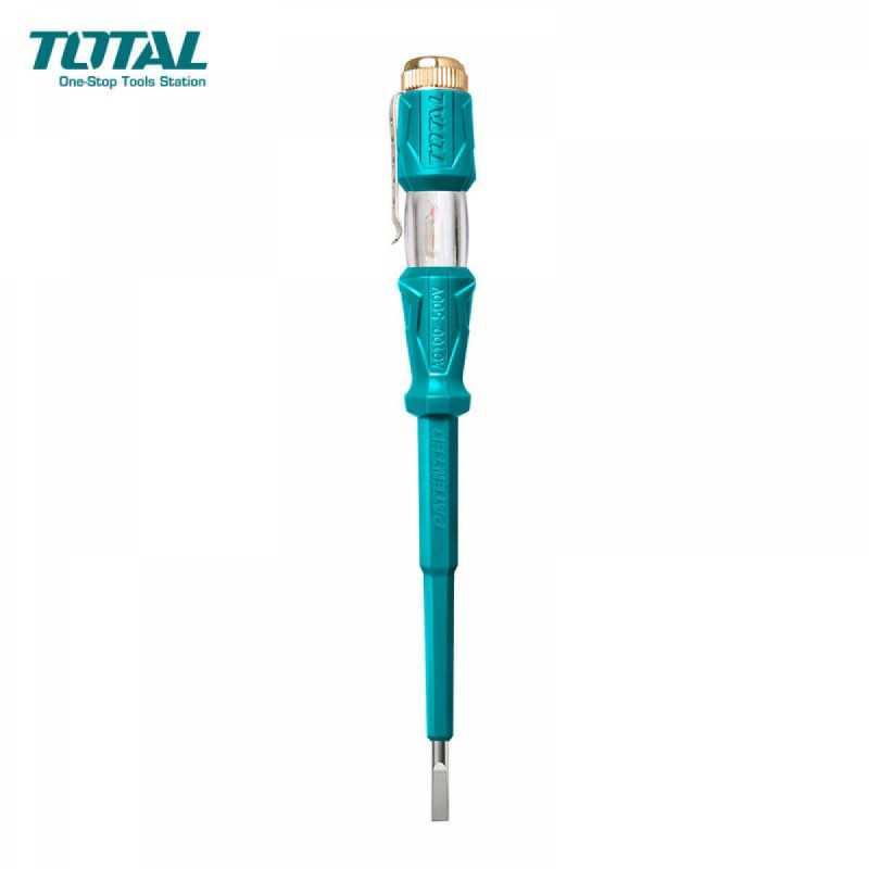 Destornillador Aislado Probador de Tensión  3mm x 190 mm 100-500V Total Tools THT291908