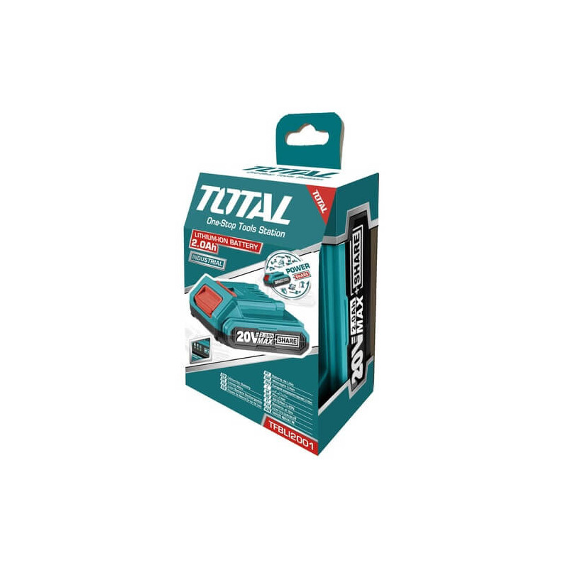 Batería de litio-ion de 20V / 2.0AH Total Tools TFBLI2001