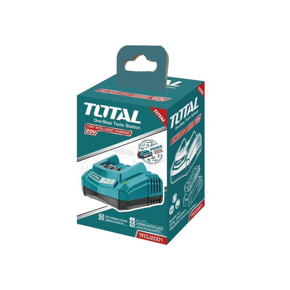 Cargador Rápido Inteligente de Baterías 20V Total Tools TFCLI2001